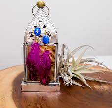 feather earrings navy fuchsia feather earrings panacea jewelry