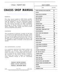 1966 pontiac oem shop manual bonneville catalina grand prix