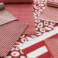 Pink And White Rug Dash And Albert Two Tone Red White Indoor Outdoor Rug Ships Free