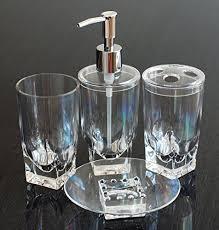 Glass Bathroom Accessories Sets Glass Bathroom Accessories Amazon Com