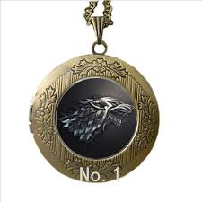wolf necklace pendant images Stark wolf necklace pendant jewelry glass locket song of ice and jpg