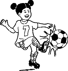 playing soccer playing football coloring page