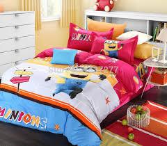 Best Sheet Fabric Best Quality Comedy Minions Cartoon Bedding Set Cotton