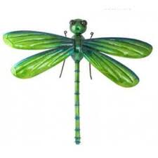 wall metal glass dragonfly green large 58cm by fountasia