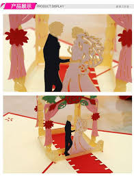 engagement greeting card laser cut wedding invitations kirigami 3d pop up card cubic