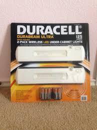 wireless led under cabinet lighting new duracell durabeam ultra 2 pack wireless led under cabinet