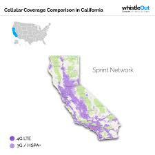 Ojai California Map Best Cell Phone Coverage In California Whistleout