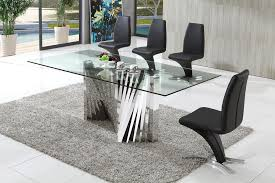 Plisset Glass Dining Table With Angel Dining Chairs Modenza - Italian design chairs