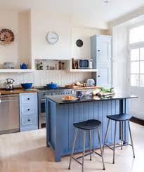 blue kitchen island 19 amazing kitchen decorating ideas real simple