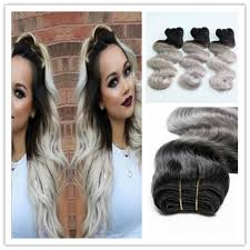 can ypu safely bodywave grey hair 7a body wave 3pcs ombre grey hair weave 24 26 28 inch for sale