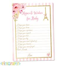wishes for baby cards themed baby shower hopes and wishes for baby card
