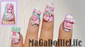 my melody 3d nail art cute nails pinterest 3d nail art