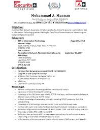 Sample Security Resume by Download Ccna Resume Haadyaooverbayresort Com