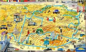 san francisco map sightseeing san francisco map for tourist