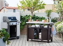 Outdoor Entertainment - unity extra large indoor outdoor entertainment bbq storage table