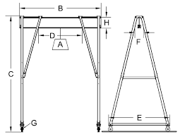 15 ton fixed height crane
