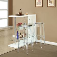 Glass Bar Table And Stools Clear Acrylic Backless Bar Stools And Narrow Bar Table With Glass