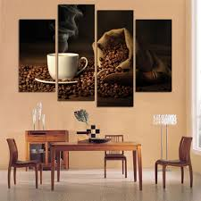 Art For Living Room Canvas Print Art 4 Panel Hd Printed Canvas Painting Coffee Wall