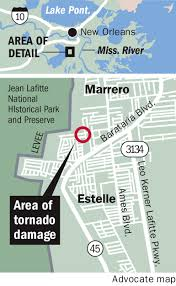 Entergy Outage Map New Orleans by National Weather Service Confirms Ef 0 Tornado Formed In Marrero