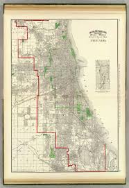 Map Of Chicago Suburbs by Rand Mcnally And Company 1897