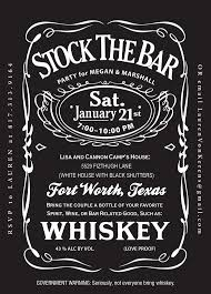 stock the bar shower stock the bar party invitations redwolfblog
