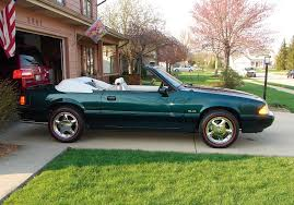 1990 mustang gt convertible value emerald green 1990 ford mustang gt 25th anniversary 7 up