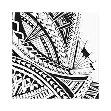samoan tribal tattoo art canvas print zazzle com