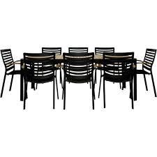 Outdoor Furniture Joondalup - adelphi outdoor 9 piece dining set teak freedom