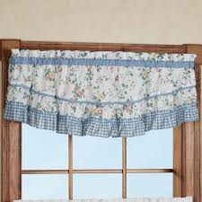 dreams ruffled scoop valance tier window treatment