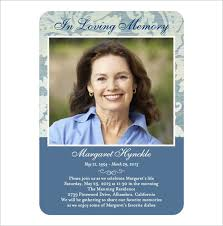 16 obituary card templates free printable word excel pdf psd