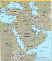 1914 World Map by Middle East 1914