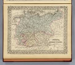 German States Map by Prussia German States David Rumsey Historical Map Collection