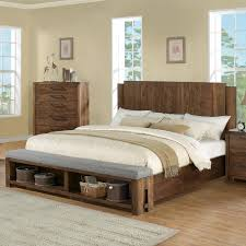 queen low profile panel bed w bench by riverside furniture wolf