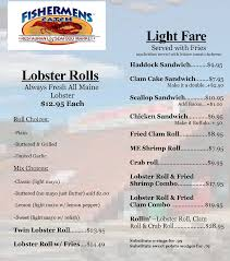 restaurants with light menus fishermens catch seafood raymond maine restaurant menusinsebago