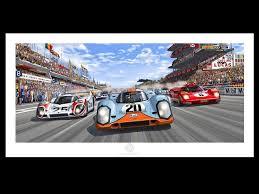 porsche racing poster porsche poster 917 k n 20 gulf le mans 1970 start steve mcqueen