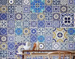 Tile Decals For Kitchen Backsplash Traditional Spanish Tiles Stickers Tiles Decals Tiles For