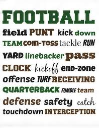 fun u0026 free football printables spilled glitter