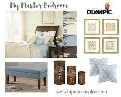 updating our master bedroom with olympic paints bringonthecolor