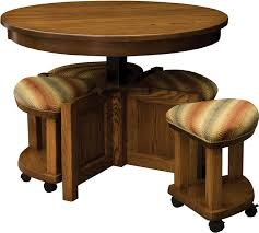 Dining Room Bench Sets Amish 5 Pieces Round Table Bench Set