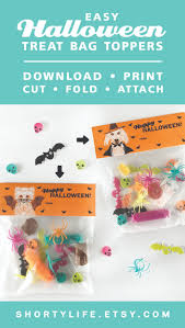printable halloween bag toppers are an easy fast way to decorate
