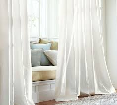 White Silk Curtains Dupioni Silk Pole Pocket Drape White Pottery Barn