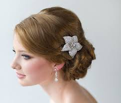flower hair bridal hair clip wedding hair accessory wedding