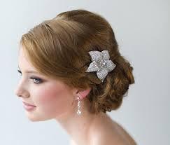 flower hair clip bridal hair clip wedding hair accessory wedding