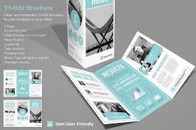 adobe indesign tri fold brochure template tri fold corporate brochure templates creative market