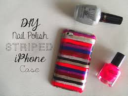 sincerely sara style u0026 books diy nail polish striped iphone case