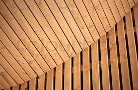 abstract wood abstract architecture background with wooden planking curved