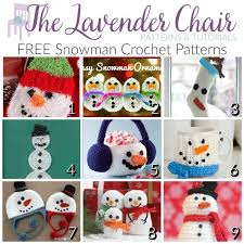 free snowman crochet patterns the lavender chair
