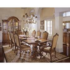 Double Pedestal Dining Room Tables Universal Furniture 409658 Villa Cortina Double Pedestal Table