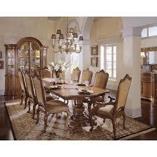 universal furniture 409658 villa cortina double pedestal table