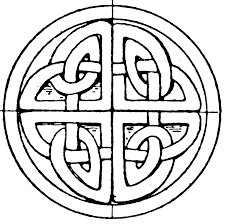 celtic stone cross circular panel clipart etc